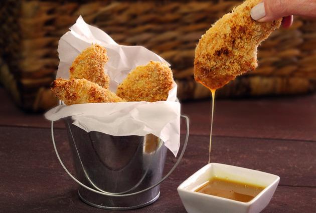 Paleo Chicken Strips with Honey Mustard Sauce