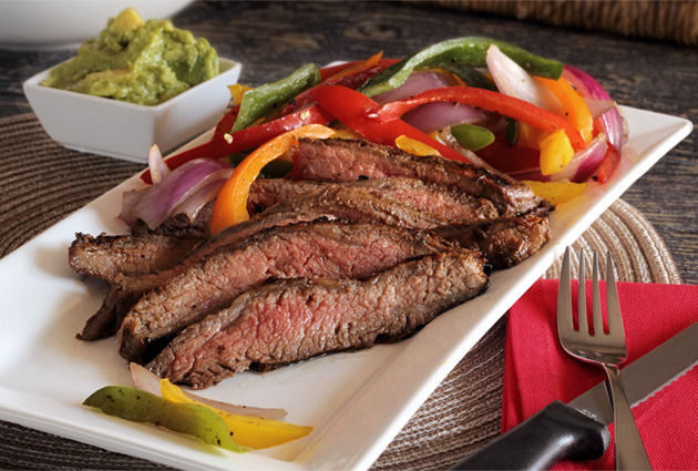 Balsamic Marinated Flank Steak with Grilled Veggies