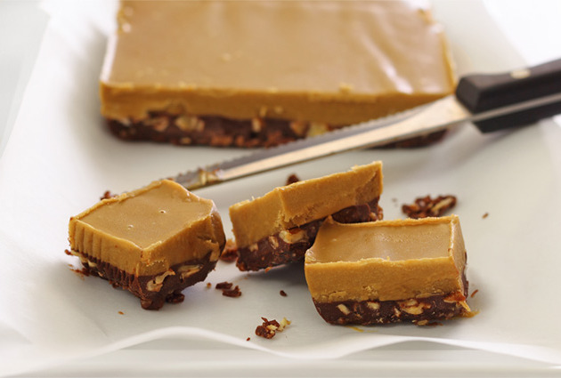No-Cook Chocolate & Nut Butter Fudge | Paleo Newbie