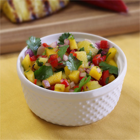 Mango/Pineapple crazy good salsa!