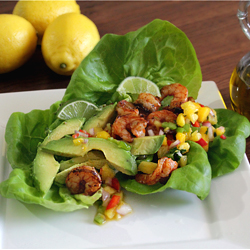 Spicy Shrimp Paleo Wraps Recipe