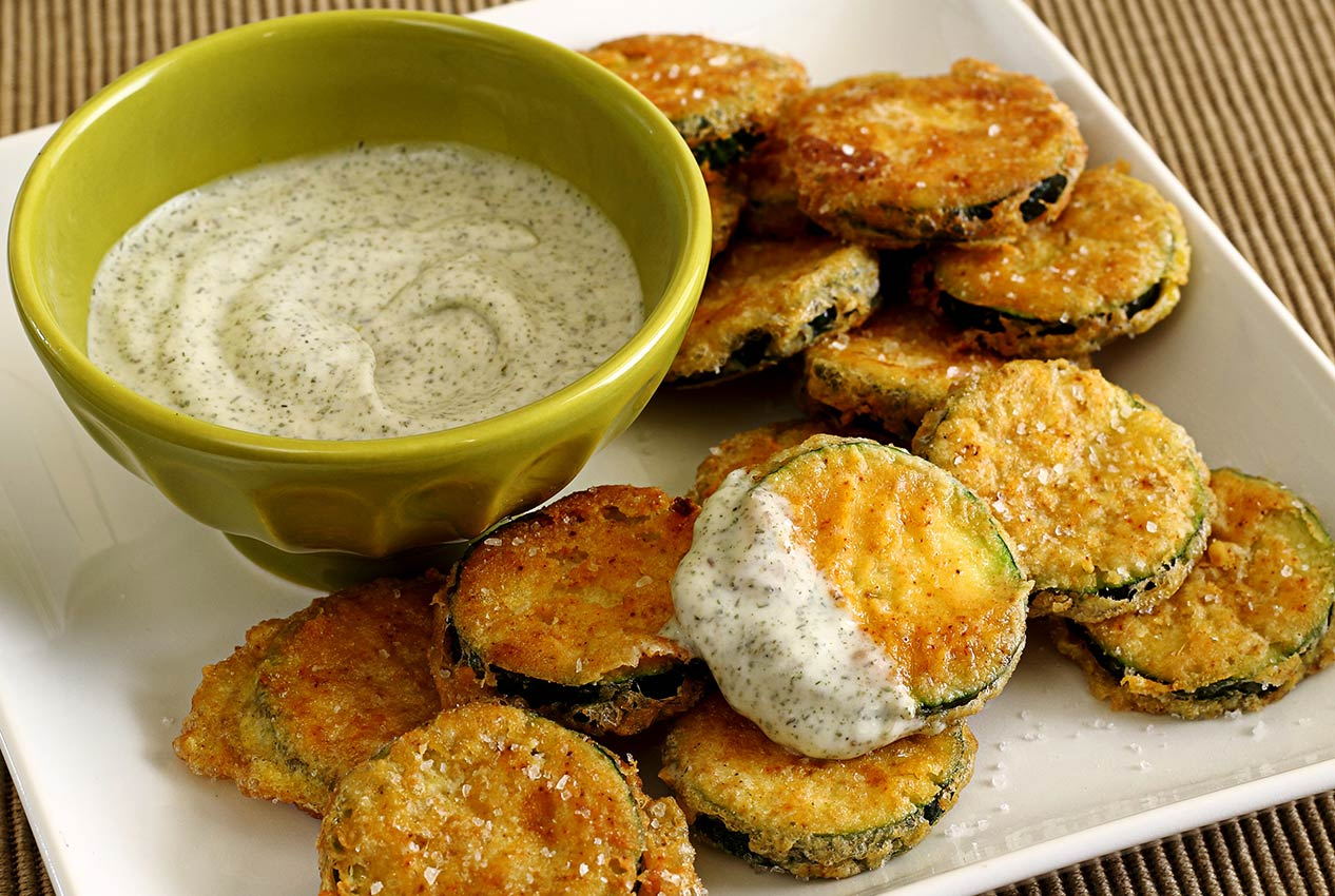Paleo fried zucchini squash recipe with cool dill dip paleo newbie forumfinder Images