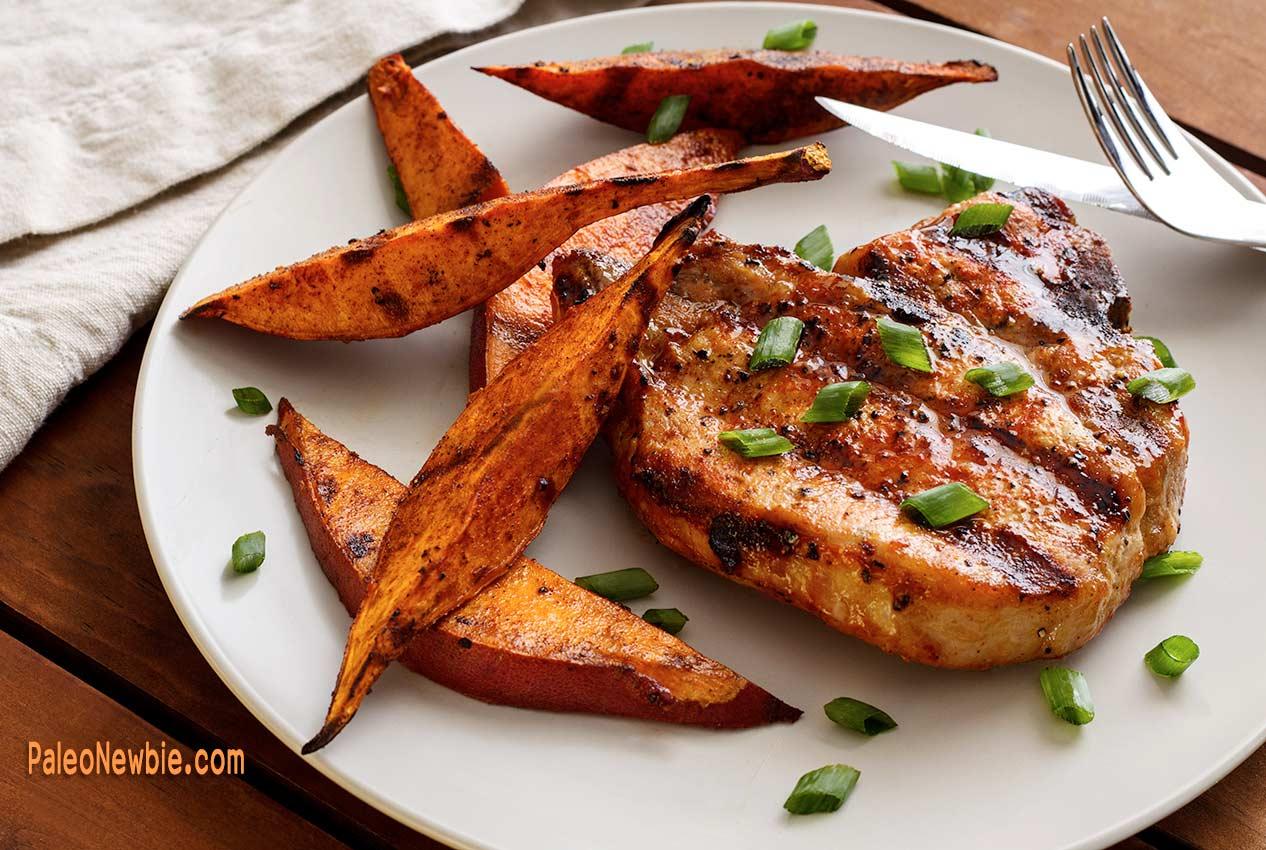 PaleoNewbie-Pork-Chop-Sweet-Potatoes-1266x850