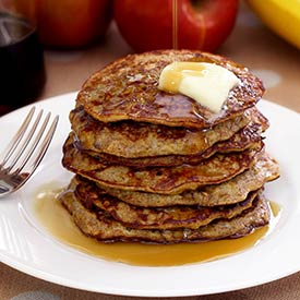 Paleo Apple-Cinnamon Pancakes