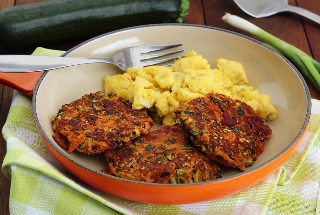 Healthier Zucchini And Carrot Fritters Recipe — Dishmaps