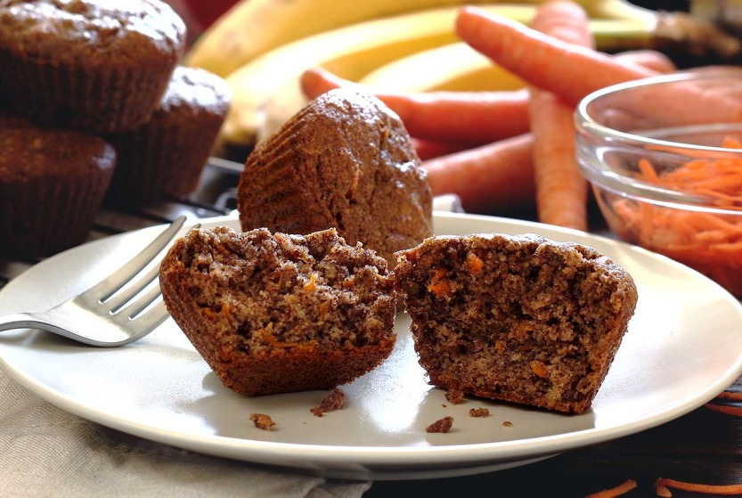 easy paleo recipe for banana-carrot muffins