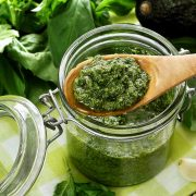 Easy paleo recipe for pesto sauce