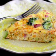 easy paleo recipe for Simple and delicious Ham, Broccoli & Sweet Potato Frittata