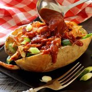 easy paleo recipe for stuffed sweet potato with chicken