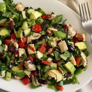 easy paleo greek chopped salad with chicken recipe
