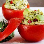 Easy paleo recipe for pesto chicken salad