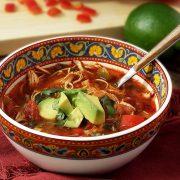 easy paleo recipe for a hot slow cooker chicken fajita soup