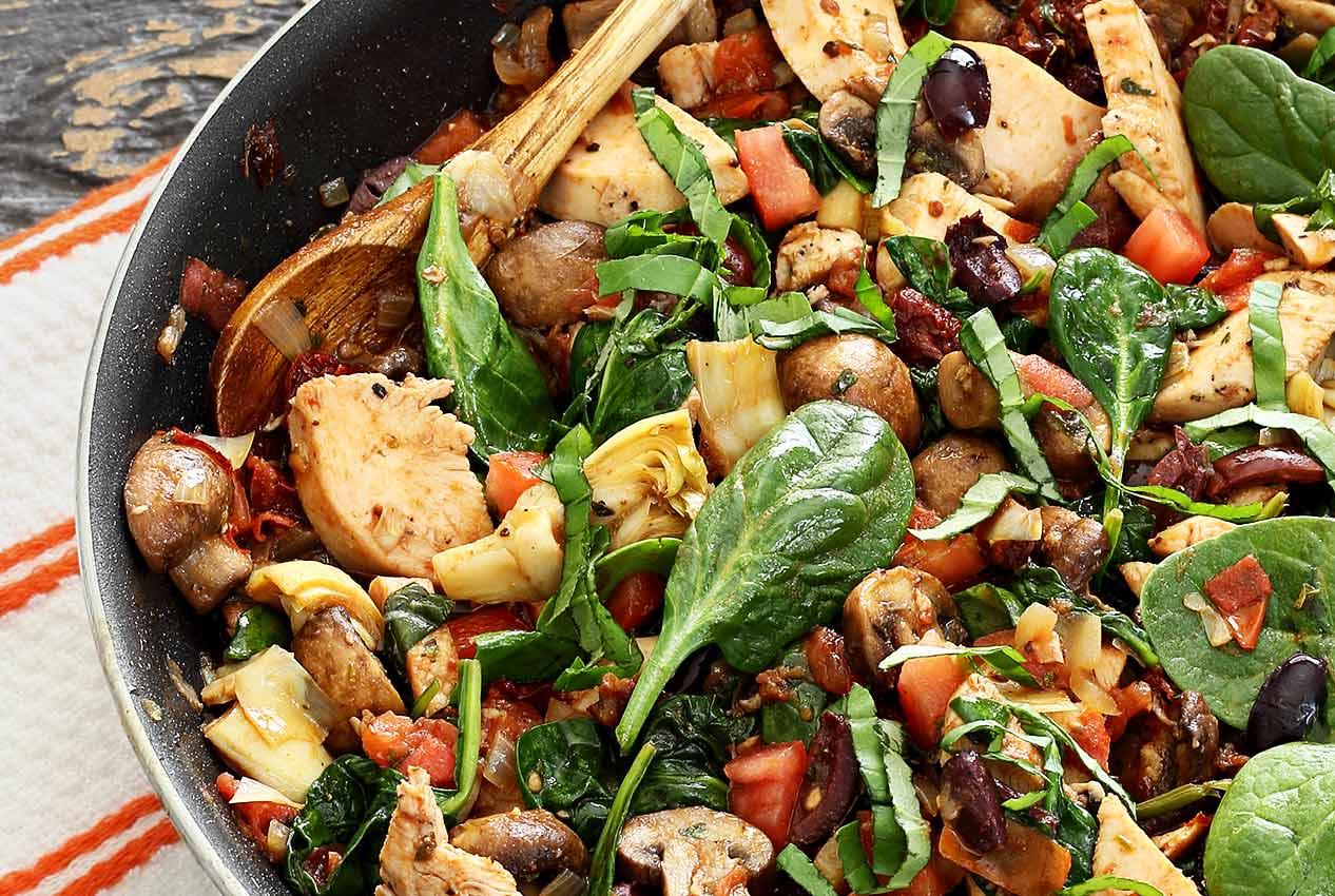 One Skillet Paleo Mediterranean Chicken Recipe Paleo Newbie