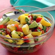 simple paleo recipe for a refreshing mango pineapple salsa